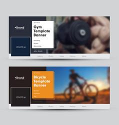 modern banner design for social networks vector image