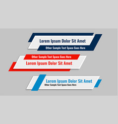 Modern geometric lower third banners set design vector
