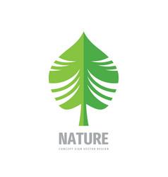 nature green leaf logo design vector image
