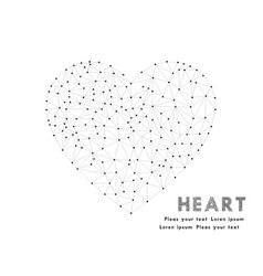 network heart polygonal element love symbol vector image