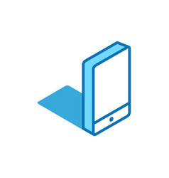 phone isometric icon smartphone mobile device 3d vector image