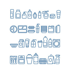 Plastic product package disposable tableware vector