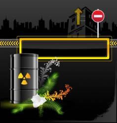 Radiation sign barrels vector