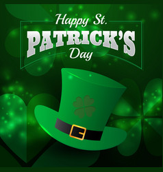 realistic st patricks day greeting card vector image