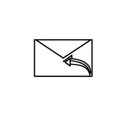 reply to all mail icon vector image