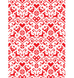 retro cross stitch seamless folk pattern vector image