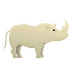 rhino icon cartoon style vector image