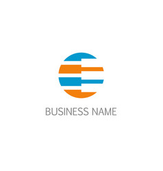 round technology data business logo vector image