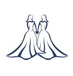 Same sex marriage legal vector image