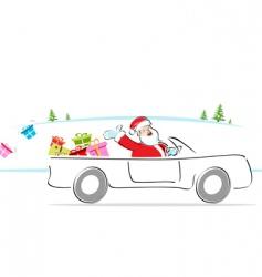 santa in car vector image