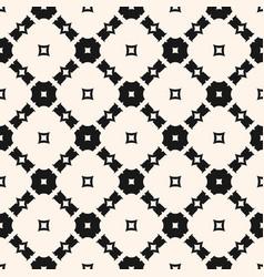 Seamless monochrome geometric ornament pattern vector