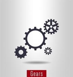 Set of gear icon vector image