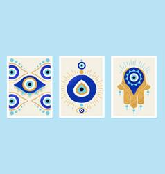 Set of turkish eye vector