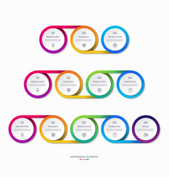 set timeline infographic templates vector image