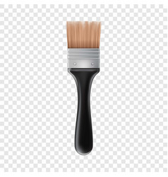 Small brush icon realistic style vector