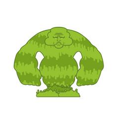 Snot monster green isolated sticky slippery vector