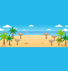 summer beach background summer travel vector image