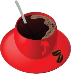 tea pair and teaspoon vector image