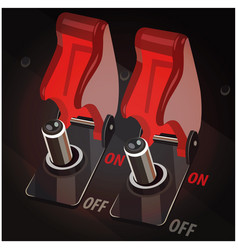 toggle switches in off position vector image