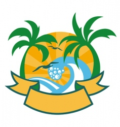 tropical islands vector image vector image