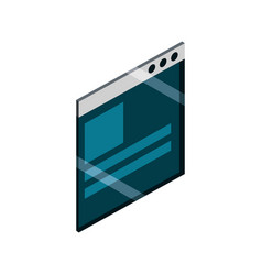 website content technology isometric isolated icon vector image