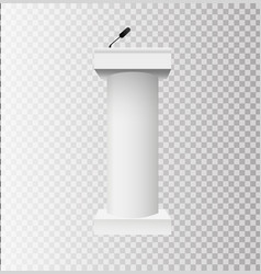 white podium tribune rostrum stands with vector image