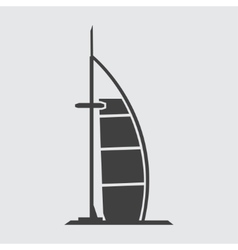 Burj Al Arab Jumeirah icon vector image vector image