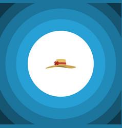 isolated woman hat flat icon elegant headgear vector image