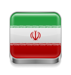 Metal icon of Iran vector image