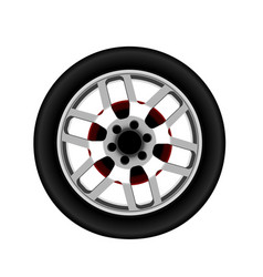 realistic car alloy wheel isolated vector image