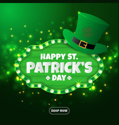 realistic st patricks day background and banner vector image vector image