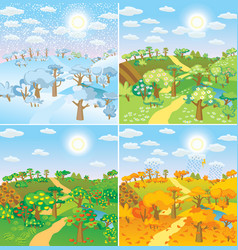 seasons in the countryside vector image vector image