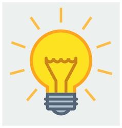 Shining light bulb poster vector image vector image