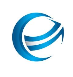 3D global arrow vector image