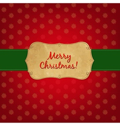 Christmas Old Label vector image