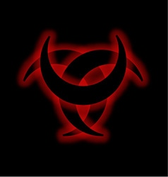 Horned Triskele- The horn of Odin vector image vector image