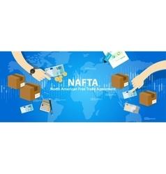 NAFTA North American Free Trade Agreement vector image vector image