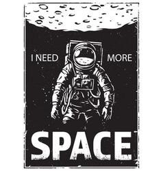 astronaut at spacewalk vector image