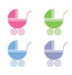 baby buggy vector image