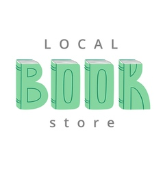 Book store logo vector image vector image