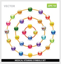 colored and creative vitamins set vector image vector image