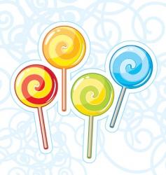 four lollipops vector image