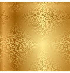 gold background oriental decoration vector image vector image