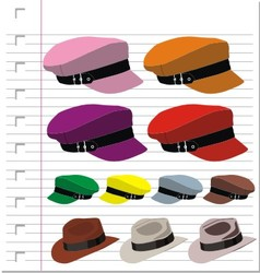 hat isolated on paper vector image vector image