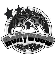 Hollywood logos vector image vector image