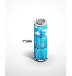 skyscraper background vector image vector image