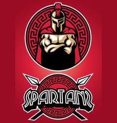spartan warrior vector image