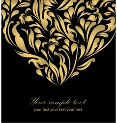 Floral abstract gold background vector image