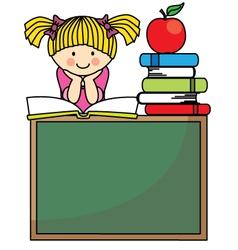 Girl reading a book vector image vector image