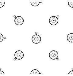 watch pattern seamless black vector image